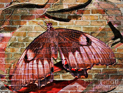Poster featuring the mixed media Brick In The Wall by Sabine ShintaraRose