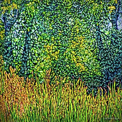 Poster featuring the digital art Bright Field Dreams by Joel Bruce Wallach