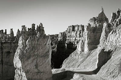 Poster featuring the photograph Bryce Canyon Np Ix Bw by David Gordon