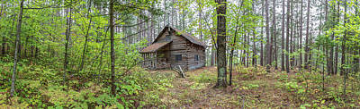 Poster featuring the photograph Cabin In The Forest by Pierre Leclerc Photography