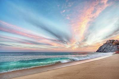 Cabo San Lucas Beach Wave Sunset Poster