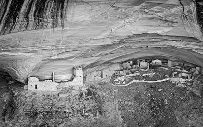 Poster featuring the photograph Canyon De Chelly V Bw by David Gordon