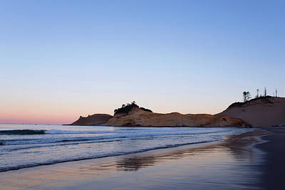 Poster featuring the photograph Cape Kiwanda Oregon Sunrise 101618 by Rospotte Photography
