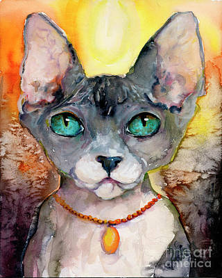 Poster featuring the painting Cat Portrait My Name Is Adorable by Ginette Callaway