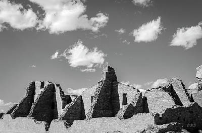 Poster featuring the photograph Chaco Ruins I Bw by David Gordon