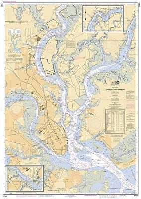 Charleston Harbor, Noaa Chart 11524 Poster