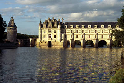 Chateau Chenonceaux On The Cher River Poster