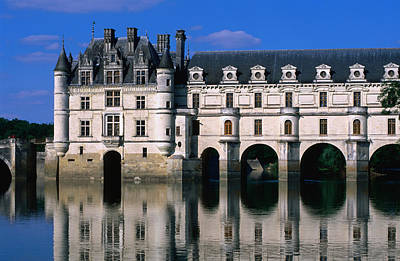 Chateau De Chenonceau Along Cher River Poster