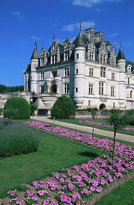 Chateau De Chenonceau With Catherine De Poster