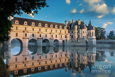 Chenonceau Dawn Poster