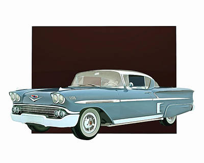 Poster featuring the digital art Chevrolet Impala Special Edition by Jan Keteleer