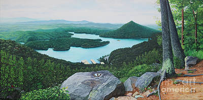 Poster featuring the painting Chilhowee Overlook by Mike Ivey