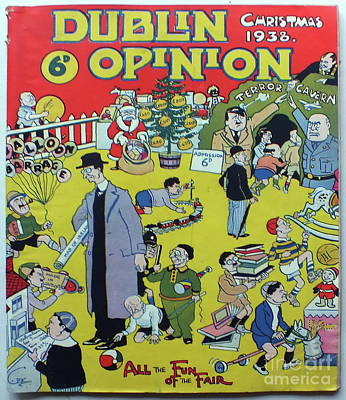 Poster featuring the painting Christmas 1938 Dublin Opinion by Misc