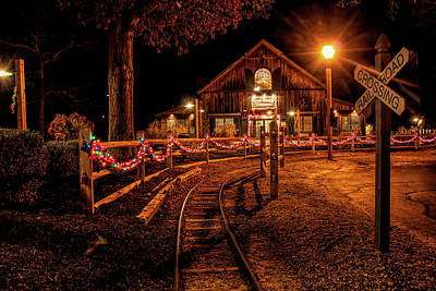 Poster featuring the photograph Christmas At The Barn In Smithville by Kristia Adams