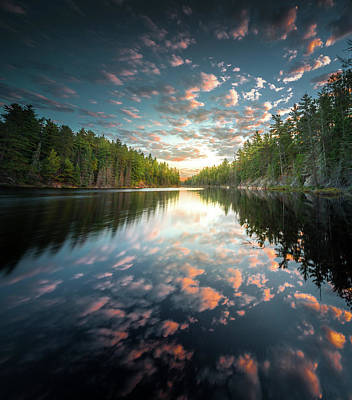 Poster featuring the photograph Cloud Atlas / Boundary Waters, Minnesota  by Nicholas Parker