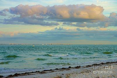 Clouds Over Sanibel Beach Poster