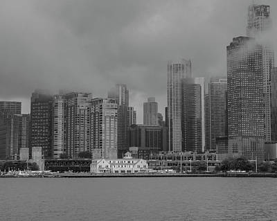 Cloudy Skyline Poster