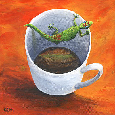 Poster featuring the painting Coffee With A Friend by Darice Machel McGuire