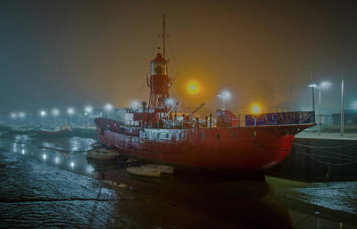 Poster featuring the photograph Colne Lightship In The Fog by Gary Eason