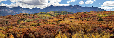 Poster featuring the photograph Colorado Autumn Panorama Colorful Bliss by James BO Insogna