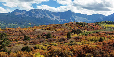Poster featuring the photograph Colorado Painted Landscape Panorama Pt1 by James BO Insogna