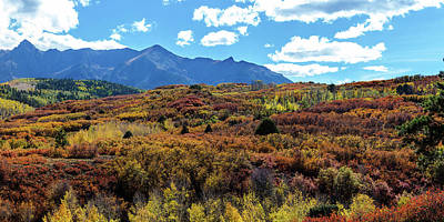 Poster featuring the photograph Colorado Painted Landscape Panorama Pt2 by James BO Insogna