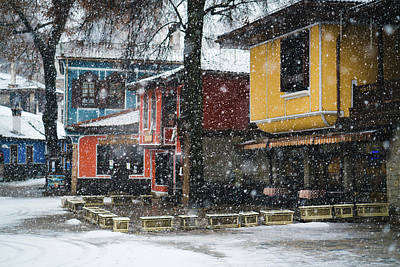 Colorful Koprivshtica Houses In Winter Poster