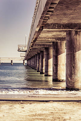 Columns Of Pier In Burgas Poster