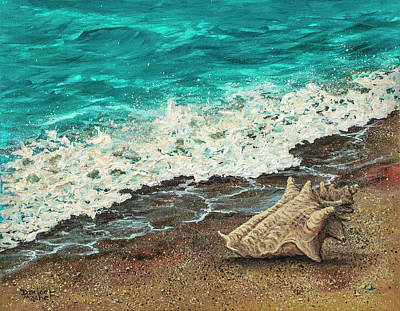 Poster featuring the painting Conch Shell by Darice Machel McGuire