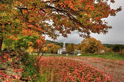 Poster featuring the photograph Country Church In Autumn by Joann Vitali