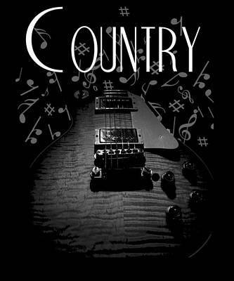Country Music Guitar Music Poster