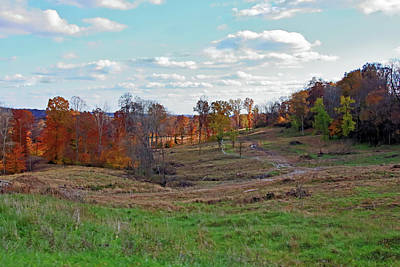 Poster featuring the photograph Countryside In The Fall by Angela Murdock