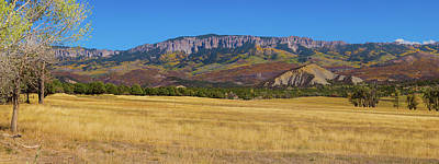 Poster featuring the photograph Courthouse Mountain To Baldy Peak - San Juan Large Panorama Pt1 by James BO Insogna