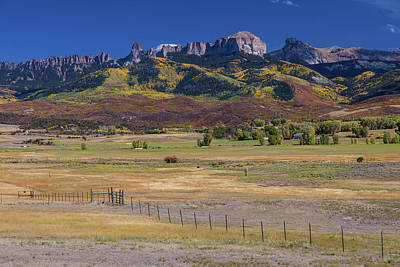 Poster featuring the photograph Courthouse Mountains And Chimney Rock Peak by James BO Insogna
