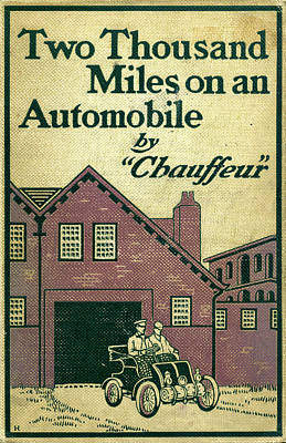 Cover Design For Two Thousand Miles On An Automobile Poster
