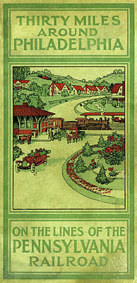 Cover Of Thirty Miles Around Philadelphia Poster