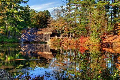 Poster featuring the photograph Covered Bridge In Autumn - Dummerston Covered Bridge by Joann Vitali