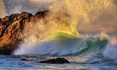 Crashing Wave Leo Carrillo Beach Poster