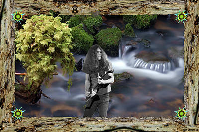 Poster featuring the photograph Creek Music #1 With Redwood Framing by Ben Upham