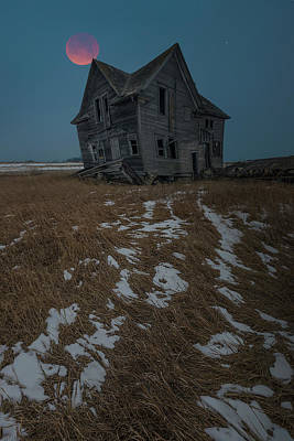 Poster featuring the photograph Crooked Moon by Aaron J Groen