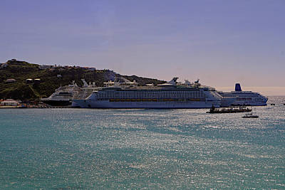Poster featuring the photograph Cruise Ships by Tony Murtagh