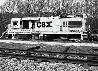 Poster featuring the photograph Csx U18b #9500 B W 1 by Joseph C Hinson Photography