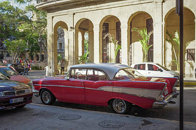 Cuban Chevy Bel Air Poster