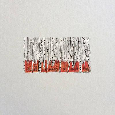 D028 - Birch Trees Poster