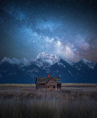 Dark Skies Last Frontier / Mission Mountains, Montana  Poster
