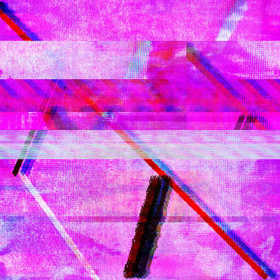 Poster featuring the digital art Databending #1 by Bee-Bee Deigner