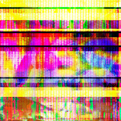 Poster featuring the digital art Databending #2 Hidden Messages by Bee-Bee Deigner