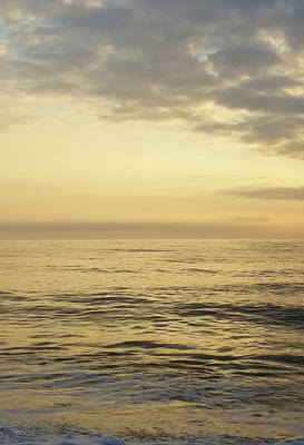 Poster featuring the photograph Daybreak Over The Ocean 2 by Robert Banach
