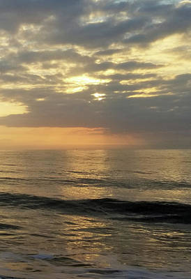 Poster featuring the photograph Daybreak Over The Ocean 3 by Robert Banach