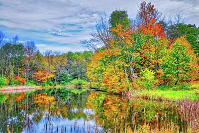 Poster featuring the photograph Dreams Of Fall In The Finger Lakes by Lynn Bauer